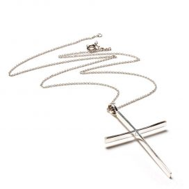 Silver cross pendant and chain