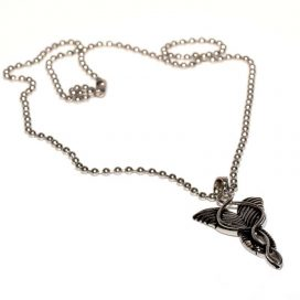 spiral wings necklace