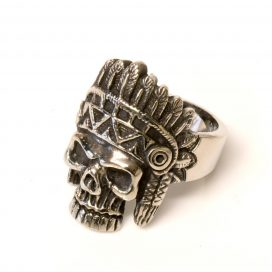 Indian Skull steel ring