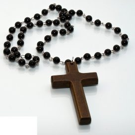 Wooden cross necklace