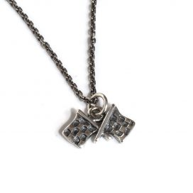 Checkered flags pendant