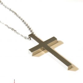 Rebel Cross pendant and chain