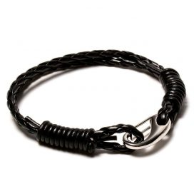 Rebel leather bracelet