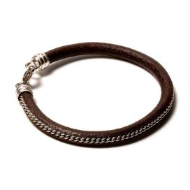 925 silver and leather bracelet