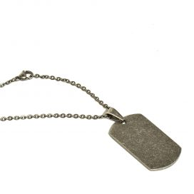 Vintage Tag pendant and chain