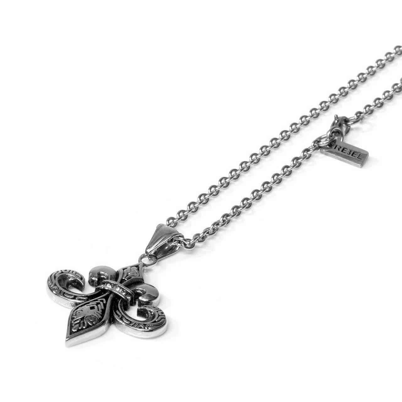 Fleur de lis pendant with chain trk609 rblcln fleur de lis pendant with chain aloadofball Choice Image